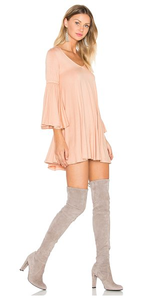 Rachel Pally Flutter Sleeve Mini Dress in peach - 92% modal 8% spandex. Dry clean recommended. Unlined....