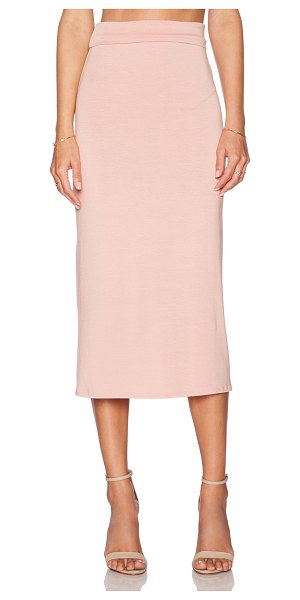 Rachel Pally High Waist Midi Skirt in blush - 92% modal 8% spandex. Dry clean recommended. Skirt...