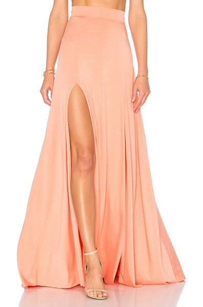 Rachel Pally Josephine Maxi Skirt in peach - 92% modal 8% spandex. Dry clean only. Unlined....