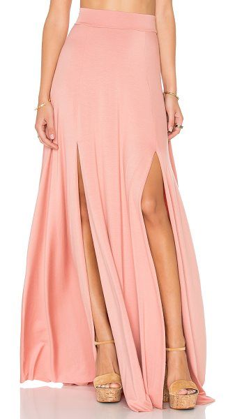 Rachel Pally Josephine Maxi Skirt in blush - 92% modal 8% spandex. Dry clean recommended. Unlined....