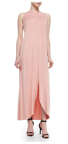 "Rachel Pally Kyle high-low maxi dress in mesa (blush pink) - Rachel Pally ""Kyle"" jersey dress. Approx. 49""L from..."