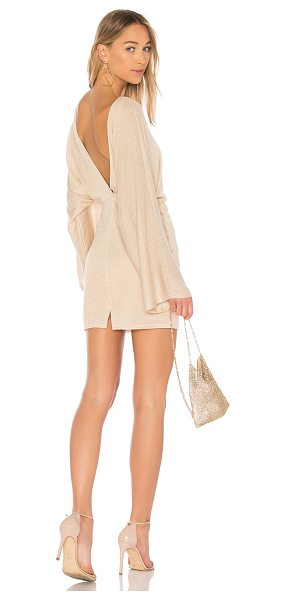 Rachel Pally Lenah Sweater Dress in metallic gold - 92% modal 8% spandex. Dry clean only. Fully lined....