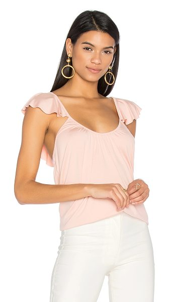 Rachel Pally Liana Top in blush - 92% modal 9% elastane. Dry clean recommended. Ruffle...