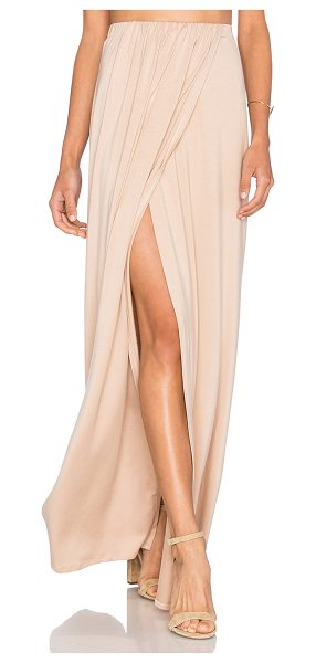 "Rachel Pally Lima Maxi Skirt in beige - ""92% modal 8% spandex. Dry clean only. Unlined. Elastic..."