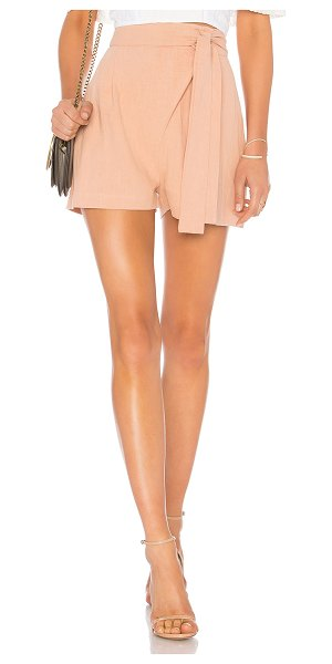 "Rachel Pally Linen Wrap Short in rose - ""100% ramie. Zipper and button front closure. Pleated..."