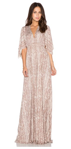 Rachel Pally Long caftan dress in tan - 92% modal 8% spandex. Dry clean recommended. Unlined....