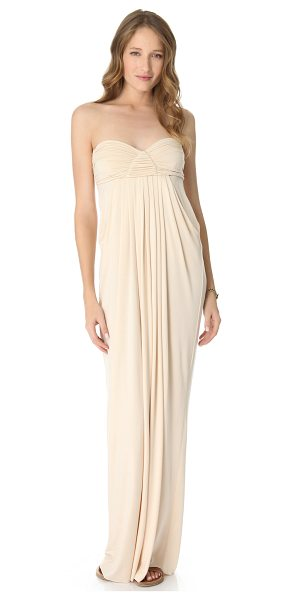 Rachel Pally long fortuna dress in cream - This strapless jersey maxi dress features a ruched...