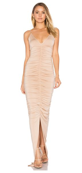 Rachel Pally Micheli Dress in bamboo - 92% modal 8% spandex. Dry clean only. Unlined. Ruched...