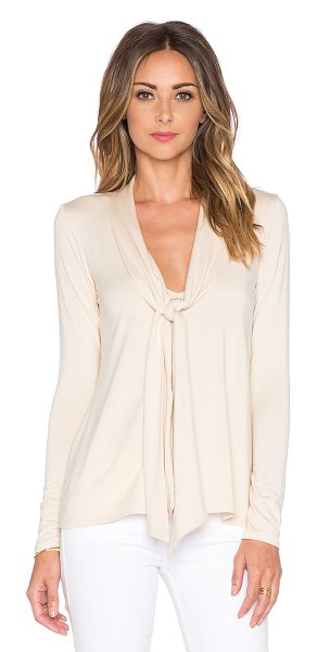 Rachel Pally Mickey top in beige - 92% modal 8% spandex. Dry clean recommended. Neck tie...