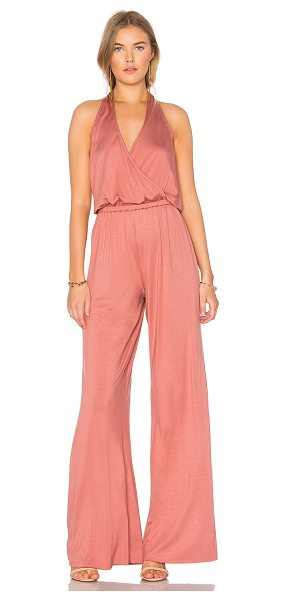 """Rachel Pally Montie Jumpsuit in rose - """"92% modal 8% spandex. Dry clean recommended. Surplice..."""