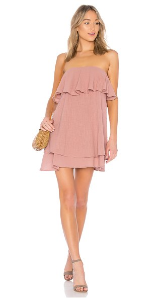 """Rachel Pally Regina Dress in mauve - """"100% cotton. Dry clean only. Unlined. Flounce fabric..."""