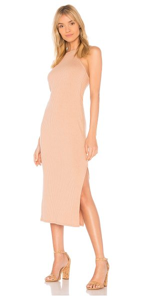 Rachel Pally Rib Donatella Dress in tan - 92% modal 8% spandex. Dry clean only. Unlined. Ribbed...