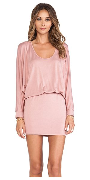 Rachel Pally Sable dress in pink - 92% modal 8% spandex. Dry clean recommended. Unlined....