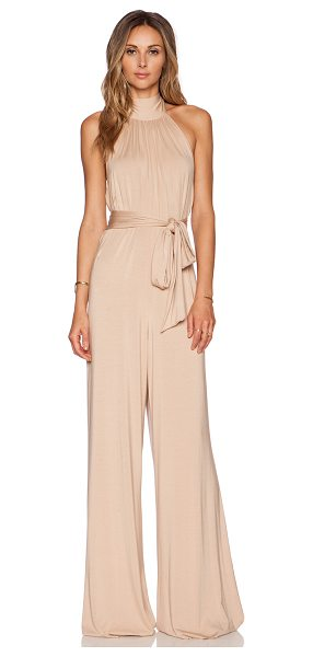 Rachel Pally Shaun jumpsuit in beige - 92% modal 8% spandex. Dry clean recommended. Halter...