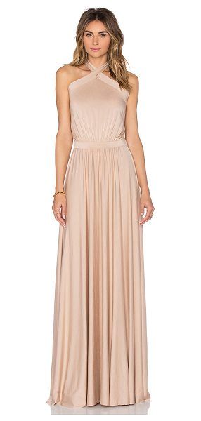 "Rachel Pally Teana Maxi Dress in beige - ""92% modal 8% spandex. Dry clean recommended. Unlined...."