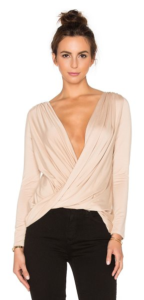 Rachel Pally X revolve castaway reversible top in tan - 92% modal 8% spandex. Dry clean recommended. Ruched...