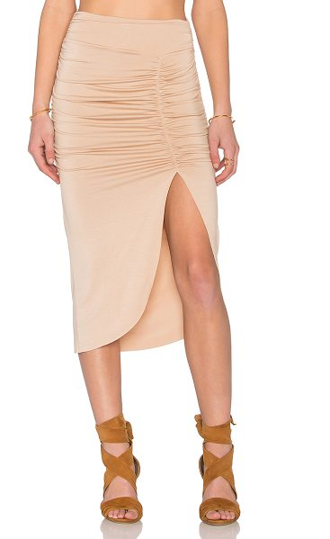 Rachel Pally X revolve monte skirt in tan - 92% modal 8% spandex. Dry clean recommended. Unlined....