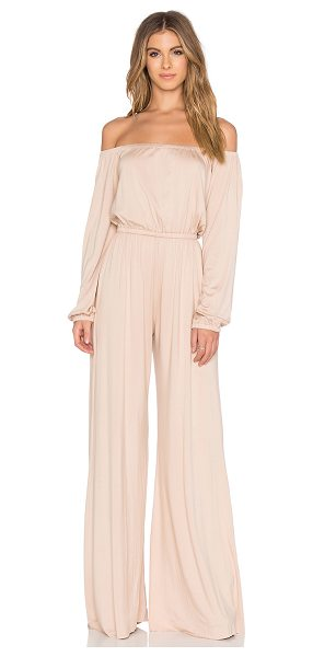 Rachel Pally X revolve paolo jumpsuit in tan - 92% modal 8% spandex. Dry clean only. Unlined....