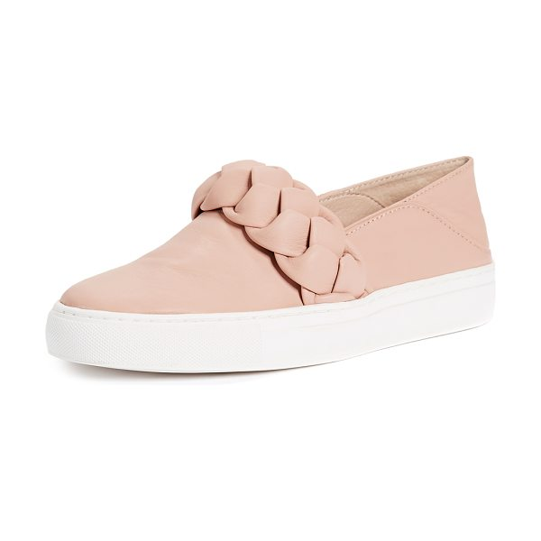 RACHEL ZOE burke braid sneakers - Leather: Sheepskin Braided trim Slip-on style Flat...