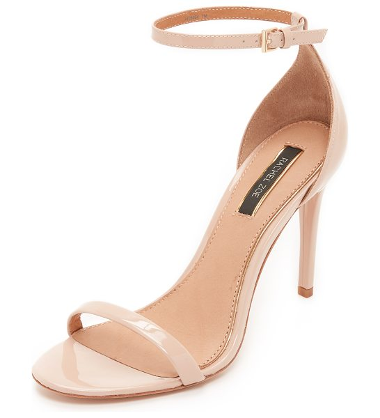 Rachel Zoe Ema sandals in nude - Classic Rachel Zoe pumps in patent leather. Slim buckle...