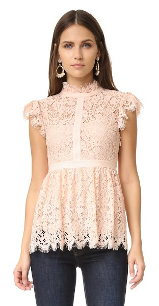 Rachel Zoe high neck paneled lace blouse in blush - Exclusive to Shopbop. A Rachel Zoe blouse in pleated...