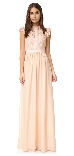 RACHEL ZOE lace paneled gown - Exclusive to Shopbop. French lace forms the bodice of...