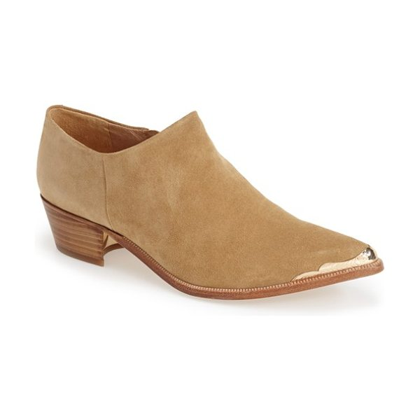 Rachel Zoe nat pointy toe boot in tan - Western-inspired hardware highlights the pointy toe of a...