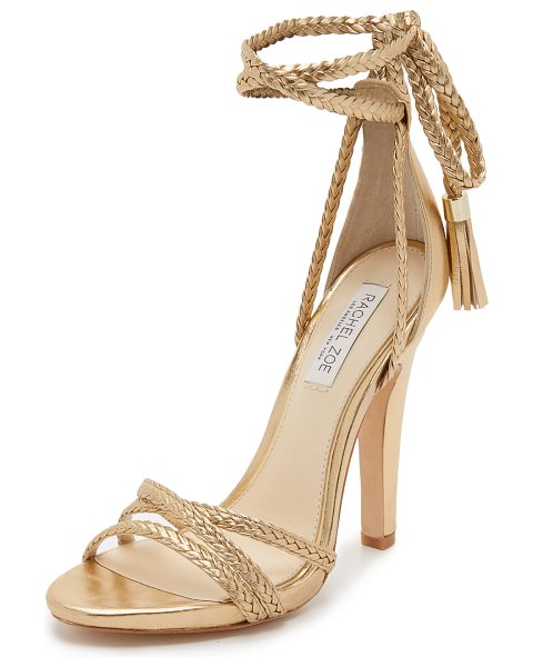 Rachel Zoe Odette wrap sandals in gold - Braided metallic straps crisscross on these glamorous...