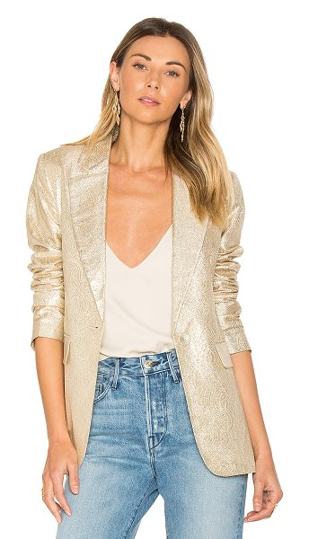 Rachel Zoe Sadie Blazer in metallic gold - Shell: 37% silk 33% viscose 30% metallic polyLining:...