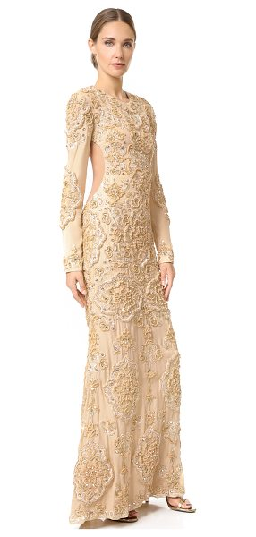Rachel Zoe sunny gown in gold - Baroque sequins and sparkling stones lend a regal finish...