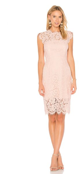 Rachel Zoe Suzette Dress in blush - Poly blend. Hand wash cold. Fully lined. Allover lace...
