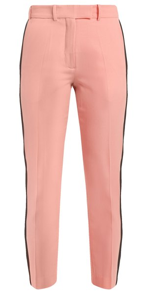 RACIL aries side stripe skinny wool cropped trousers in pink