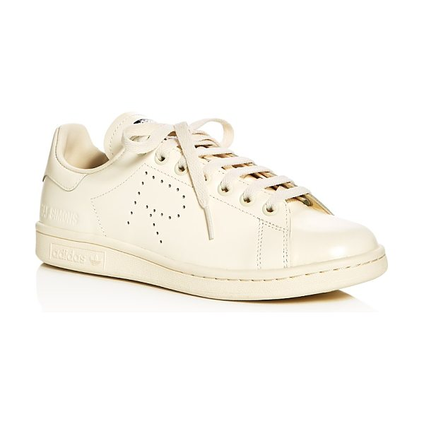 Raf Simons For Adidas Raf Simons for Adidas Women's Stan Smith Lace Up Sneakers in white/cream - Raf Simons for Adidas Women's Stan Smith Lace Up Sneakers-Shoes