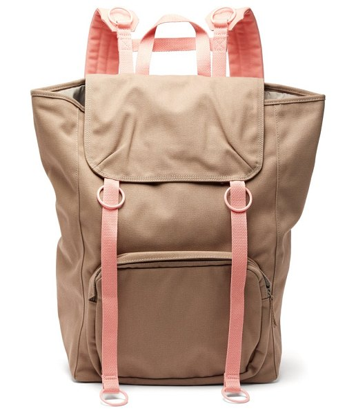 Raf Simons x Eastpak two tone canvas backpack in pink multi