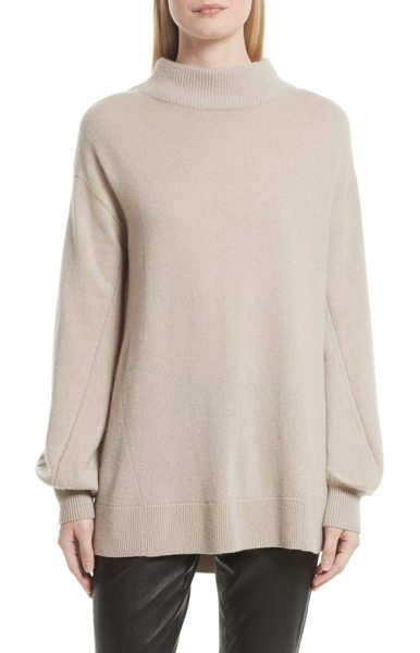 Rag & Bone ace cashmere turtleneck sweater in mink - Engineered stitching creates textural interest on this...