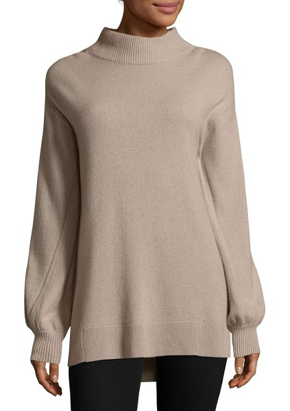 Rag & Bone ace cashmere turtleneck sweater in mink - Cashmere sweater with engineered fashion stitches....