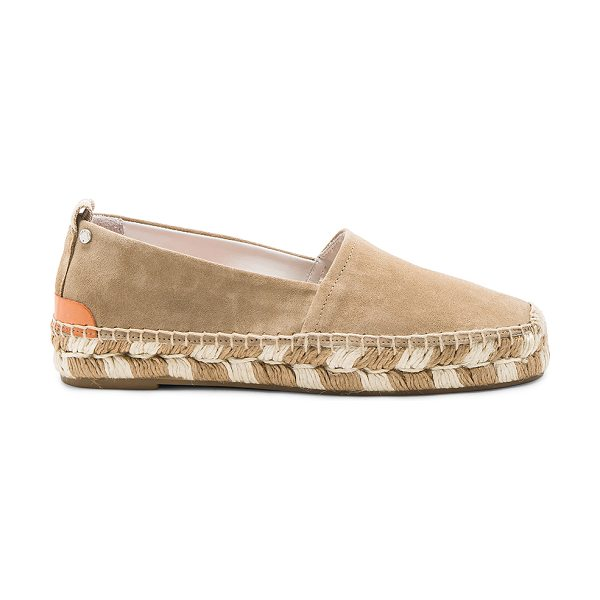 RAG & BONE Adria Espadrille - Calfskin suede upper with rubber sole. Slip-on styling....