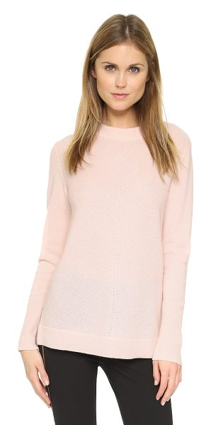 Rag & Bone Alexis cashmere tunic in pale pink - Chevron ribs accent the front of this fine knit Rag &...