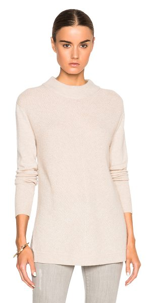 Rag & Bone Alexis tunic sweater in neutrals - 100% cashmere.  Made in China.  Knit fabric.  Side slit...