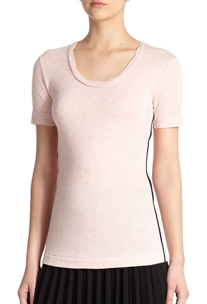 RAG & BONE Andrea contrast-trimmed tee - Binding trim adds a subtle modern element to this...