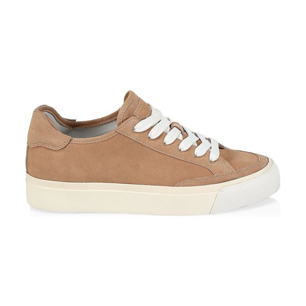 Rag & Bone rb army low-top suede sneakers in nude