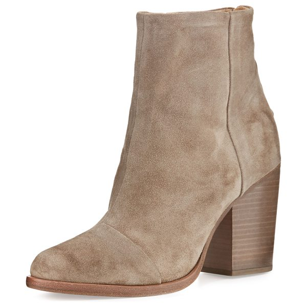 "Rag & Bone Ashby Suede Ankle Boot in stone suede - Rag & Bone Italian calf suede ankle boot. 3.5"" stacked..."