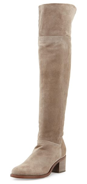 "Rag & Bone Ashby suede over-the-knee boot in stone - Rag & Bone Italian calf suede over-the-knee boot. 2. 3""..."