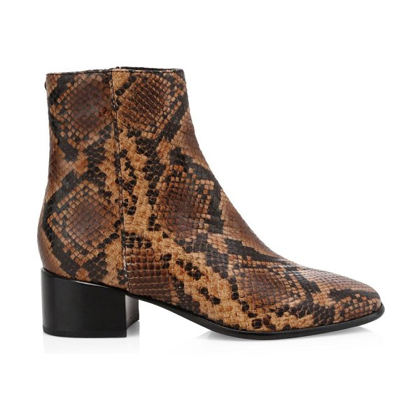 Rag & Bone aslen snakeskin-embossed leather ankle boots in brown