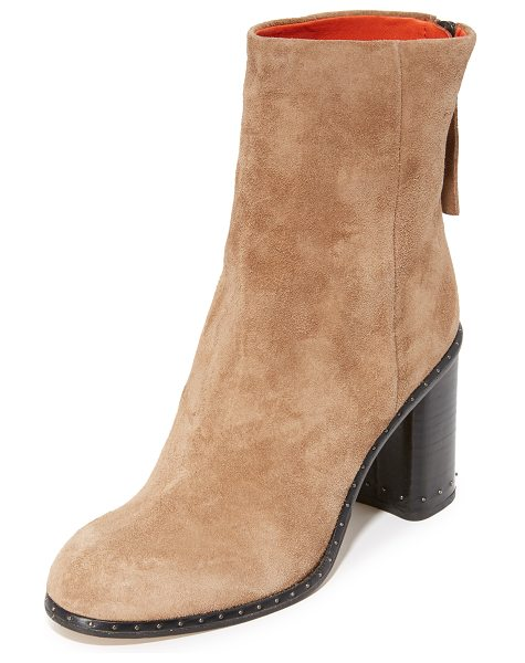 Rag & Bone blyth booties in camel - A petite stud adds subtle edge to these suede Rag & Bone...
