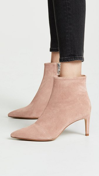 Rag & Bone beha booties in nude - Leather: Calfskin Suede Stiletto heel Exposed zip at...