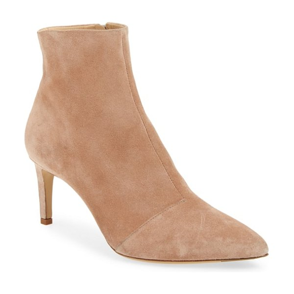Rag & Bone beha pointy toe bootie in nude suede - A slim, clean-lined silhouette featuring a pointy toe...
