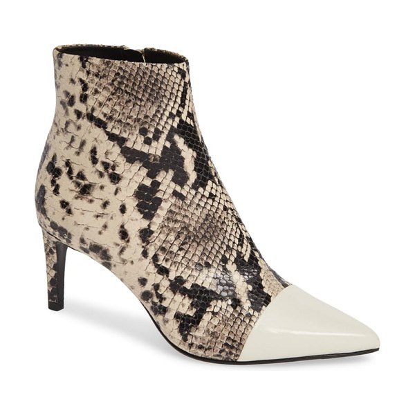 Rag & Bone beha pointy toe bootie in beige - A slim, clean-lined silhouette featuring a pointy toe...