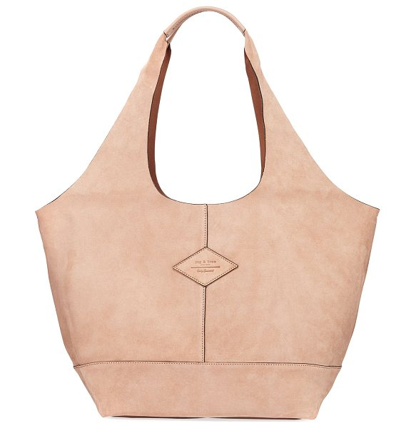 "Rag & Bone Camden Suede Shopper Hobo Bag in nude suede - Rag & Bone ""Camden"" hobo-style shopper tote bag in soft,..."