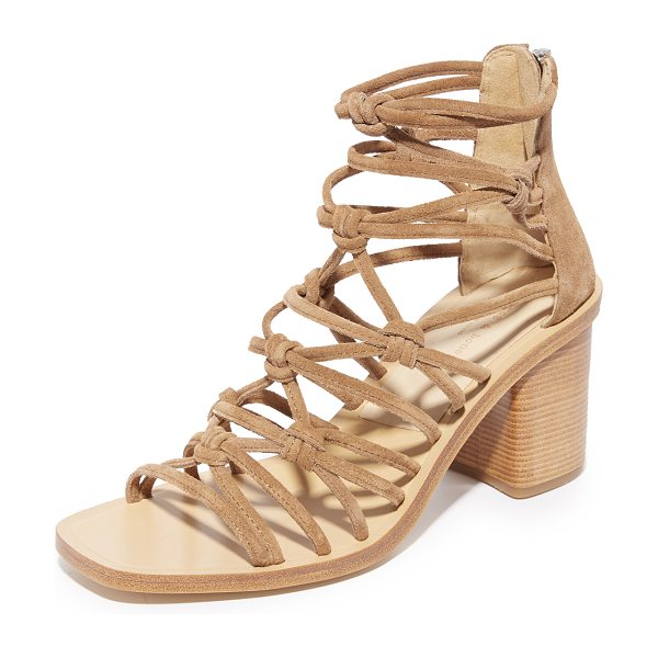 Rag & Bone camille sandals in tan - Knotted crisscross straps form the upper of these...
